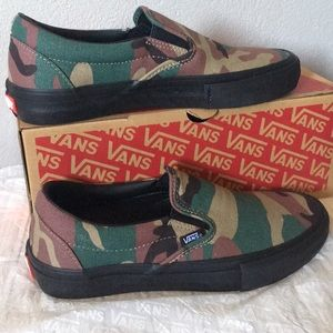 Vans Slip-On Pro Camo, Black6.5